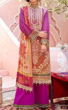 Mulberry Purple Lawn Suit   Buy Rang Rasiya Pakistani Dresses and Clothing online in USA, UK