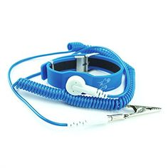 ESD Anti-static Wrist Strap with 2.4m Adjustable Spring Blue Grounding Wire