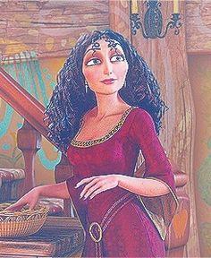 "Mother Gothel from ""Tangled"" Tangled 2010, Tangled Rapunzel, Disney Tangled, Disney Magic, Disney Princess, Tangled Mother Gothel, Disney Villains, Disney Characters, Heart For Kids"