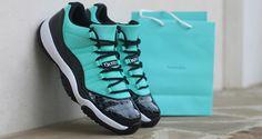 """Air+Jordan+11+Low+""""Tiffany""""+Custom+by+Dank+Customs"""