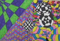 Op Art - Schoo Middle School Art