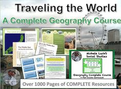 With over 1000 pages, this COMPLETE COURSE will help you teach all regions of the world in a Geography or Social Studies Course.