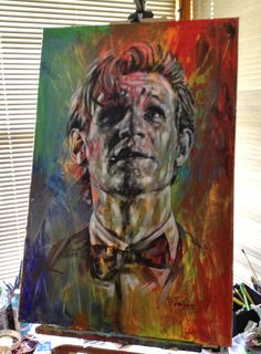 """Very Old & Very Kind & The Very, Very Last"" (Doctor Who / Matt Smith - 24"" x 36"" acrylic on canvas) I WANT"