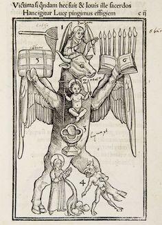Filipo Gesualdo, Plutosofia, nella quale si spiega l'arte della memoria , Padua 1592. Imagen del cuerpo humano con finalida...