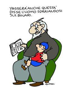 l'Espresso - Le vignette di Altan Vignettes, Comics, Memes, Funny, Poster, Fictional Characters, Smile, Macabre, Sarcasm