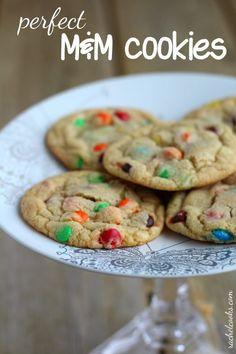 Perfect M&M Cookies   RachelCooks.com