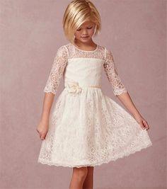 Flower girl dress,Vintage Lace Flower Girl Dresses White