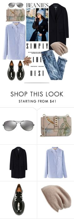"""Simply the best"" by edita1 ❤ liked on Polyvore featuring Ray-Ban, Valentino, MSGM, J.Crew, Marni, Halogen and beanies"