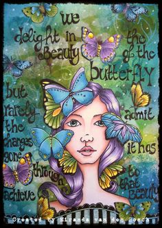 miranda's creations: art journal page using the Bloom Girl Sharon-gorgeous