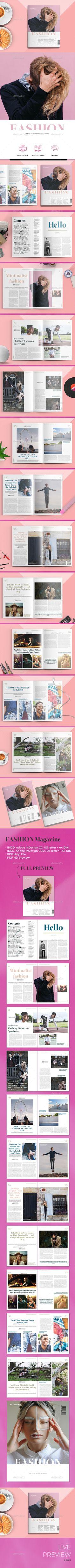 4 in 1 Magazines Templates InDesign INDD Bundle #design Download ...