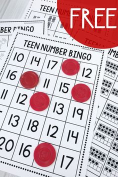If you need teen number activities to help your learners master the tricky teens, try these free teen BINGO games - in four different variations! Teaching Teen Numbers, Numbers Kindergarten, Kindergarten Math Activities, Numbers Preschool, Math Numbers, Learning Numbers, Preschool Math, Math Classroom, Teaching Math