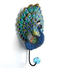 Keep your home tidy with a wall hook from Kirkland's! From distressed finishes to geometric shapes, our wall hooks add a touch of style to your wall decor. Peacock Bathroom, Peacock Room, Peacock Decor, Peacock Bird, Peacock Colors, Peacock Theme, Peacock Design, Peacock Feathers, Peacock Crafts
