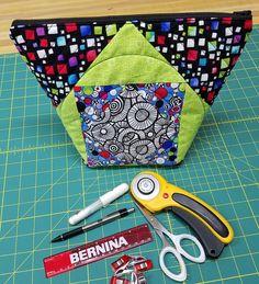 Square in a Square Zipper Bag