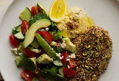 Sesame and Pistachio Chicken Schitzel with Turkish Salad - Nadia Lim