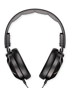 Shinola Men's Leather Over-Ear Headphones, Black Zink Printer, Leather Headbands, Shinola, Men's Leather, Audiophile, Over Ear Headphones, Luxury Fashion, Black, Style