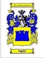 Baptist Coat of Arms Baptist Family Crest History Print