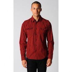 Director Check Shirt-DC-46822492-C-BlackRedCheck. Sale $15.00