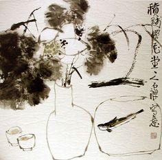Мастер признательность живописи Hong Yi Zen