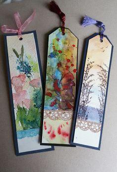 Bookmarks, suluboya #watercolor #bookmarks #orijinal #handmade https://www.zet.com/urun/suluboya-kitap-ayraci-k-0004-0005-0006-304660