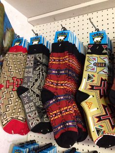 Quality socks at Del Sol....30 designs to choose from.