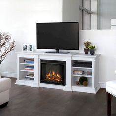 Impressive 33+ Best Electric Fireplace TV Stand Design Ideas For Your Family Room https://decoor.net/33-best-electric-fireplace-tv-stand-design-ideas-for-your-family-room-8438/
