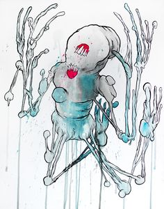 livepainting by glönn this monster was made at the euroblast festival, cologne