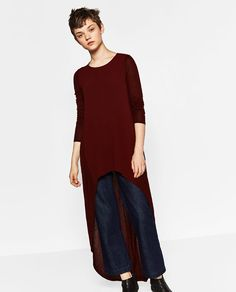 ZARA - SALE - EXTRA LONG ASYMMETRIC TOP