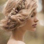 Wedding hair floral crown