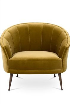 The Maya civilization had maize as one of the primary elements of their culture. Personified as a woman, Maya's Maize God was the inspiration behind MAYA Upholstered Chair. With legs in matte aged brass, this linen accent chair has the sensual and delicate forms of the goddess, making it the perfect seating solution for an elegant living room set.