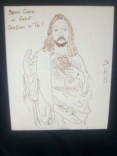quadro in legno Sacro Cuore di Gesù pirografato a mano con scritta.22,5x27x0,5cm Sacramento, Ebay, Art