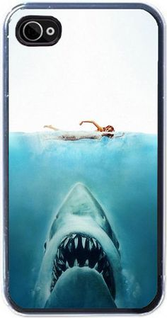 I Phone 4 hard case Movie Buff Jaws. $12.99, via Etsy.
