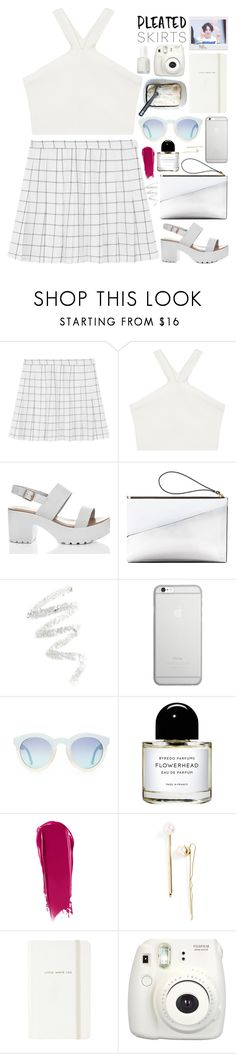 pleated skirts by thelipglossgirl on Polyvore featuring BCBGMAXAZRIA, SpyLoveBuy, Marni, Native Union, L. Erickson, NARS Cosmetics, Cynthia Rowley, Byredo, Essie and Kate Spade