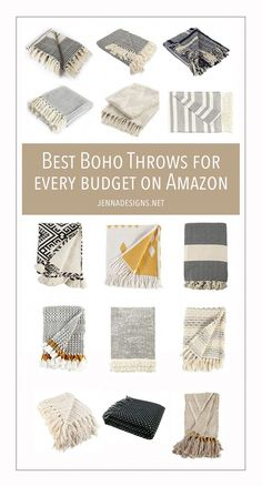 Jun 2019 - Boho decor is all the rage right now - here are 15 of the best budget-friendly boho throws to make any space chic and comfortable! Living Room Decor On A Budget, Boho Living Room, Living Room Colors, Cozy Living, Living Rooms, Apartment Living, Cottage Living, Living Room Throws, George Nelson