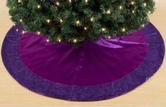 Purple christmas tree skirt
