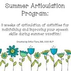 This program provides fast and easy ways to incorporate articulation practice throughout the summer.  Included in this program are five activities ...