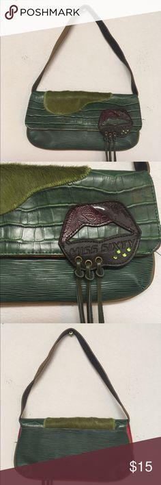 Miss sixty lip fringe green small purse Miss sixty lip fringe green small purse Miss Sixty Bags Mini Bags