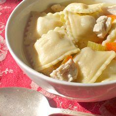 chicken ravioli soup