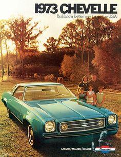 1973 Chevrolet Laguna Colannade Hardtop Coupe Advertising Illustration