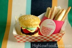 Bake Sale Burger Cupcakes and French Fry Cookies