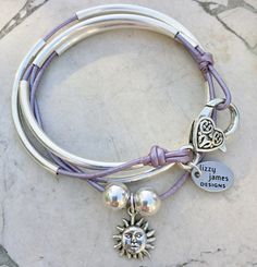 Shown in Metallic Lilac Leather Love these bracelets!