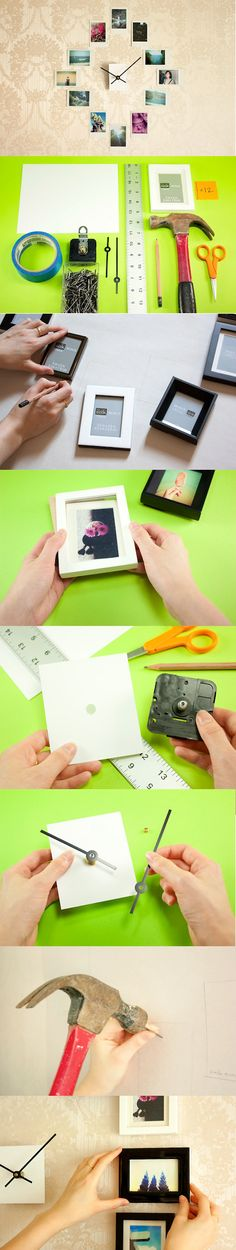 Make an Easy DIY Wall Clock from Photos - the step by step guide