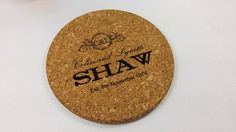 Engraved cork pot stand personalized with your message by TreeX