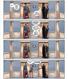 Awkward encounter ✨   #BatCat   Bruce Wayne / Batman   Selina Kyle / Catwoman   Clark Kent / Superman   Lois Lane