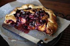 Peach & Bing Cherry Pie. This is the style of pie I grew up on. Sounds like a good combination to try.