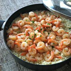 Satisfying hungry bellies with a big pot of Saucy Shrimp over Rice - it's a crowd-pleaser!