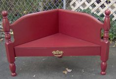This is a great way to repurpose a headboard or a foot board into a bench. This is a project I did with my friend Cathy. We picked up this footboard at a local peddler's mall for $6.00. This was before we realized there were better places to find old, orphaned beds….curb shopping is much …