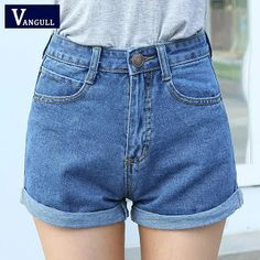 27e6b1db584 High Waist Denim Shorts Size XL Female Short Jeans for Women 2016 Summer  Ladies Hot Shorts