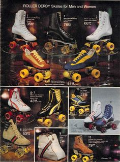 Very retro looking roller skates from a 1980 catalog. #1980s #toys http://www.retrowaste.com/1980s/toys-in-the-1980s/