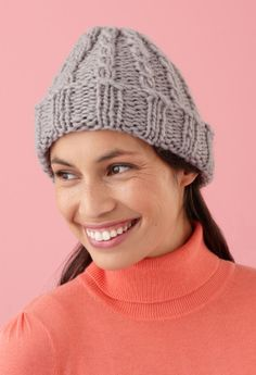 Loom Knit - Martha Stewart Loom Cable Hat and Wristers