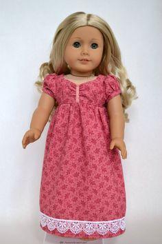 American Girl 18 Inch Doll Regency Dress - Dusty Rose. $55.00, via Etsy.